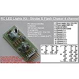 RC–Kit de luces LED–luz estroboscópica Flash & Chaser–4canales–HK9924