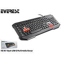 Everest Kb-961, Multimedia Q Klavye, İngilizce Klavye, Siyah