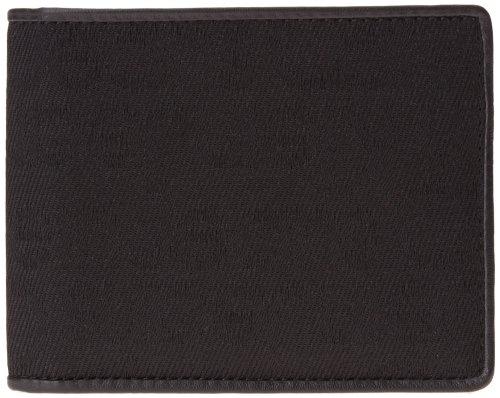 Calvin Klein Jeans Portafoglio nero in pelle e tessuto jacquard