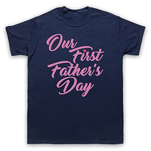 Our First Father's Day Baby Daughter Herren T-Shirt Ultramarinblau
