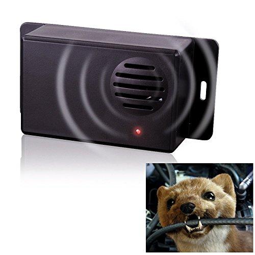 Gardigo Marderschreck Mobil batteriebetrieben Marder Abwehr Ultraschall Hunde Katzenschreck Tiervertreiber Waschbär