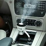 Auto Portable Luftbefeuchter mit Dual USB Ladegerät Ultraschall Mini Cool Mist Aroma Luftbefeuchter Luft reinigen mit Auto Off CZ002 Schwarz