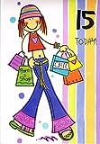 Geburtstagskarte–Mädchen Alter 15(3611/1)