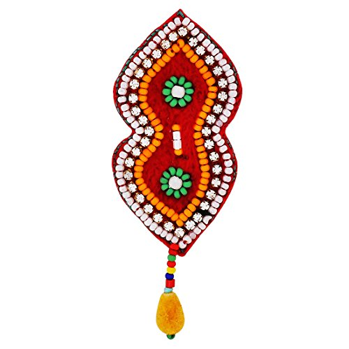 Maayra Multicolour Brooch Dailywear Saree pin Hand Woven Beads Work