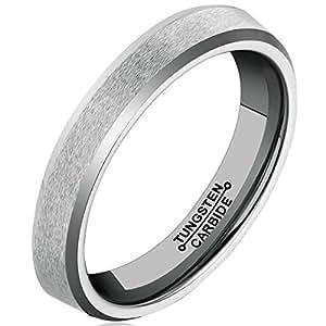 Eheringe Trauringe Verlobungsringe Tungsten mit Zirkonia Lasergravur W731
