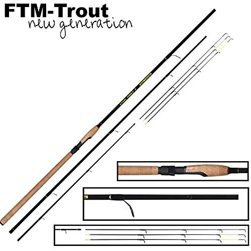 FTM Steel Trout 2 3,60m 6-25g - Forellenrute zum Angeln auf Forellen, Sbirolinorute zum Forellenangeln, Angelrute für Forellen