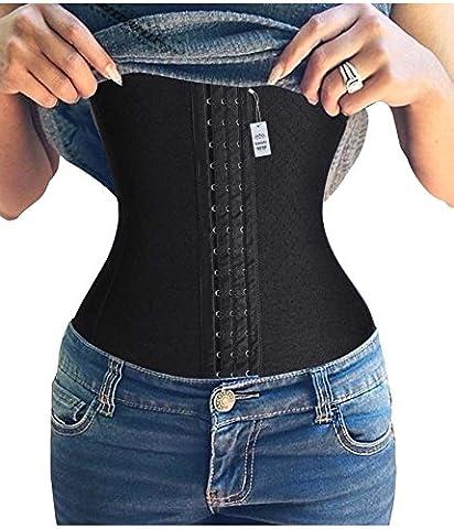 Damen Unterbust Taillenreduktion Korsett Belt Elastisch Workout Waist Trainer (Large,