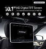 XTRONS® Tragbare 10,1 Zoll Auto Kopfstütze DVD CD Player Headrest HD Monitor HDMI, USB und SD Slot Touch-Buttons FM/IR Transmitter 32 Bit Spiele Unterstützt
