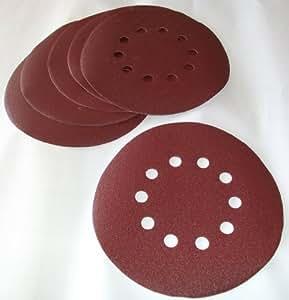 Matrix MXPT-130210030 Set de 10 Papiers à poncer Grain 80 pour DWS 600/710/1200