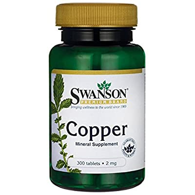 Swanson Copper 2mg, 300 Tablets by Swanson Health Products