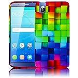 Huawei ShotX / Honor 7i BUNTES MUSTER Silikon Schutz-Hülle
