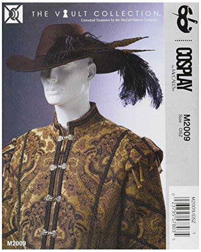 Cosplay von McCall 's Cosplay M2009OS, Mittelalter und Renaissance Hüte und Kapuze, Multi/Farbe