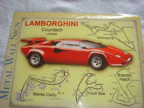 LAMBORGHINI THE ORIGINAL SUPERCAR CLASSIC VINTAGE LARGE METAL SIGN 12X16 by THE ORIGINAL METAL SIGN COMPANY