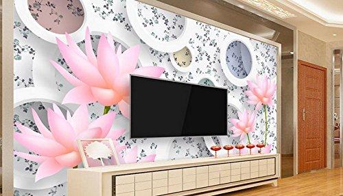 Wolipos 3D Wandmalerei Wand-Aufkleber Tapete Wandtattoo Hohe Qualität Europäischen Stil Lily Roll Hintergrund Hd Dekoration 150Cmx100Cm -