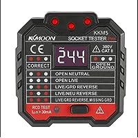 KKmoon KKM5 Mini Digital Socket Detector Power Socket Wiring Detection Wall Plug Breaker Finder RCD Test Socket Tester