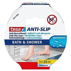 tesa® Anti-Rutschband Bad und Dusche, Transparent