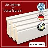 20 Stk/48 m Hamburger Profil Fußleisten weiß lackiert 2400 x 19 x 70mm - Vorteilspack 4,20€/m - 13% Rabatt