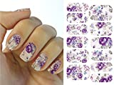 Arte de uñas: Calcomanías y autoadherentes Transferible con Agua K5707B Pegatina Tatuaje para Uñas Nail Sticker - FashionLife