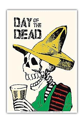 Mexique - La_ fête_ de Jour des morts - Affiche ancienne vintage tourisme voyage du monde mondial Poster by Jose Guadalupe Posada c.1900 - Reproduction Professionelle d'art Master Art Print - 33cm in x