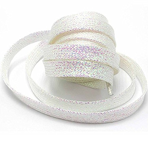GOOTRADES Metallic Glitter Flat Shoelaces for Canvas Sneaker Athletic 45  inch (2 pairs) (White) - Buy Online in Oman.  cc732b6d5ddb