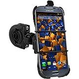 mumbi Système de fixation sur guidon Samsung Galaxy S4 de Vélo / Moto TwoSave - Double sécurité / portrait / paysage + Collier de fixation