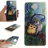 Anlike Schutzhülle für Lumia 650 Hülle, Handy Hülle / Handytasche / Silikon Hülle Case / Schlank Flexibel Handy Tasche Cover für Microsoft Lumia 650 (5 Zoll) - Malerei Owl