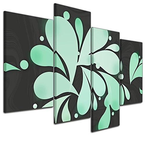 Bilderdepot24 Cuadros en Lienzo Arte abstracto Abstracto 36b - verde menta -...