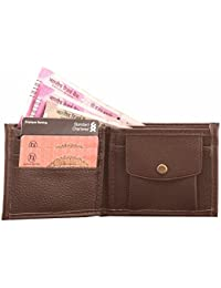 LeeRooy Men Genuine Leather Wallet Purse With 5 Card Slots - Brown
