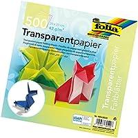folia 825/2020 - Faltblätter Transparentpapier 20 x 20 cm, 42 g/qm, 500 Blatt sortiert im 10 Farben
