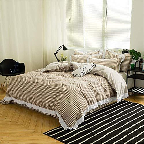 SHJIA Fashion Bettwäsche Set Set Bettlaken Kissenbezug King Queen Bett Set M 200x230cm