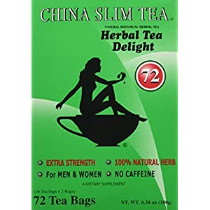 China Slim Tea Super Ginseng Plus Extra Strength For Men and Women 72 Tea Bags