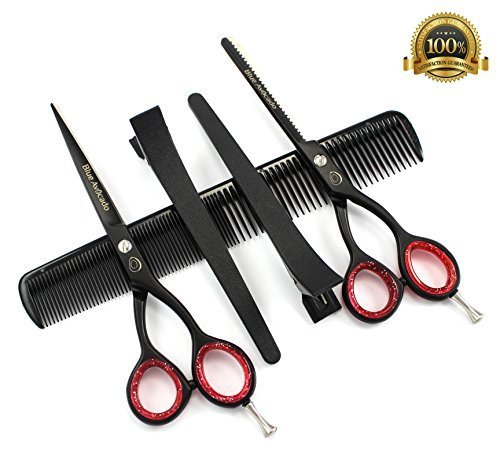 professional-hairdressing-scissors-hair-thinning-scissors-60-inch-deep-black-case-by-blue-avocado