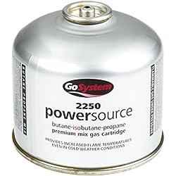 GoSystem Butane Propane Threaded Mix Gas Cartridge - Silver, 220 g
