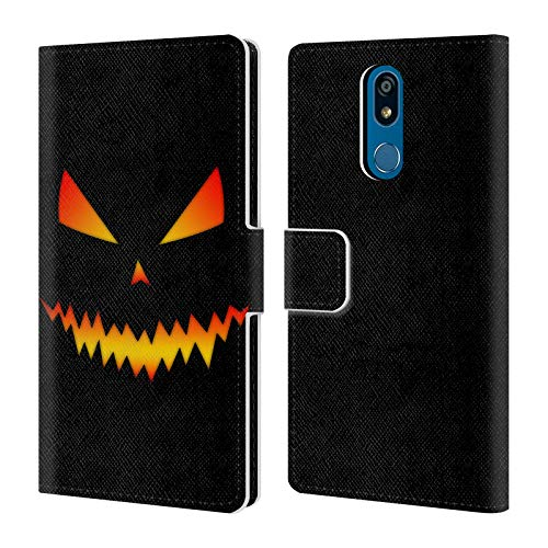Head Case Designs Offizielle PLdesign Jack O Lantern Halloween Leder Brieftaschen Huelle kompatibel mit LG K40 / K12 Plus