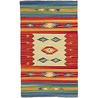 Yute & Co Kilim Alfombra de pasillo de algodón trenzado a mano, gran calidad, 55 x 90 cm