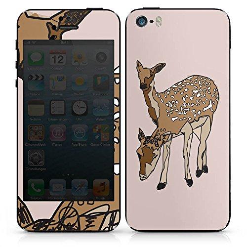 Apple iPhone 5 Case Skin Sticker aus Vinyl-Folie Aufkleber Reh Rehe Tiere DesignSkins® glänzend