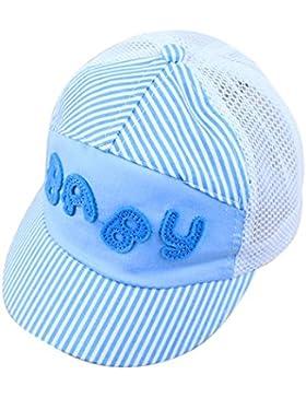 Hosaire Sombrero de los niños Bordado suave de la malla del verano Sombrero de sol flanging Gorra de beisbol
