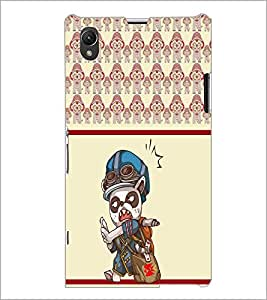 PrintDhaba Cartoon D-5806 Back Case Cover for SONY XPERIA Z1 (Multi-Coloured)