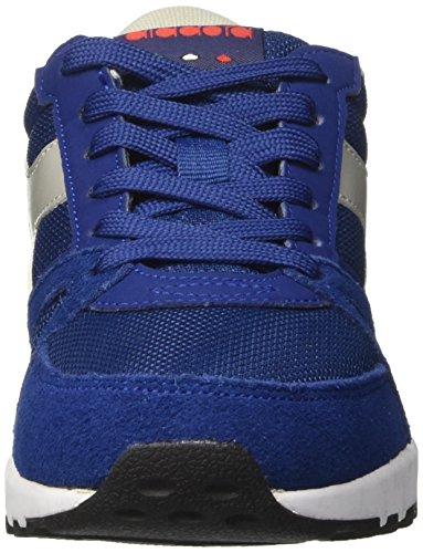 Diadora Run 90, Sneaker Basses Mixte Adulte Bleu (Blu Estate/rosso Fiamma)