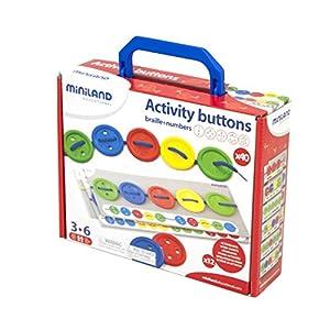 Miniland- Activity Button-Botones para Coser, (31791)