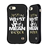 Official Justin Bieber What Do You Mean Typography Purpose B&W Hybrid Case for Apple iPhone 7