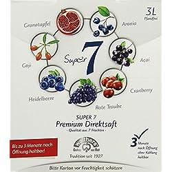 Walthers Super 7 Premium-Direktsaft aus Aronia, Goji, Acai, Cranberry, Granatapfel, Heidelbeersaft, 1er Pack (1 x 3 l Getränkekarton)