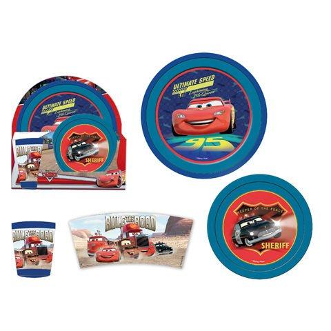 Arditex wd8989–Set petit-déjeuner de 3pièces Motif Cars