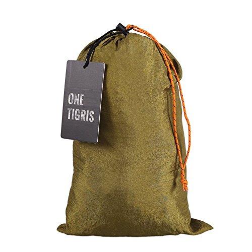 OneTigris Camping Hängematte mit Moskitonetz (inkl. Karabiner und Seile) Belastbarkeit 200kg - 2