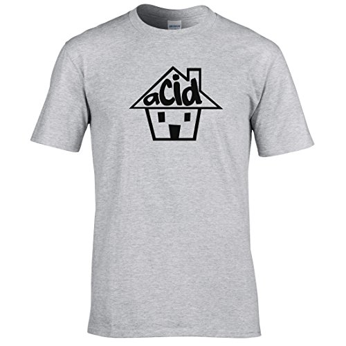 Naughtees clothing - Acid house T-shirt Für DJ's, feste, club oder audiheads Sport Grau