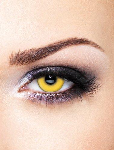 Edit farbige Gelbe Kontaktlinsen Crazy ohne (Kontakte Halloween Verrückte)