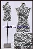 Euroton - Rivestimento di Ricambio in Pizzo Bianco per manichino da sarta, Busto da Donna Torso LSW