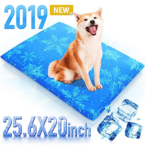 RioRand Haustier Kühlmatte für Hunde 65x50CM, Kühldecke Ungiftig Gel Matt Katzenschlafsofa...