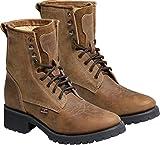Westernstiefel Leder Western-Boots Cowboystiefel Stars & Stripes WB34 Braun WB35 Schwarz (40, Braun)