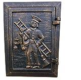 WoMa Kreativ Brotbackofen Ofentür Abdeckung aus Gusseisen Tür für Steinofen-Grill #56